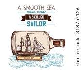 Old Vintage Sailboat Or Ship...