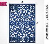 die cut ornamental panel. may... | Shutterstock .eps vector #318767522