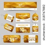 banner design  discount and... | Shutterstock .eps vector #318767882