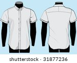 shirt template with front and...   Shutterstock .eps vector #31877236