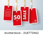four red price stickers with... | Shutterstock .eps vector #318773462