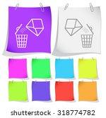 open mail with bin. vector note ...   Shutterstock .eps vector #318774782