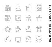 hotel icons set | Shutterstock .eps vector #318776675
