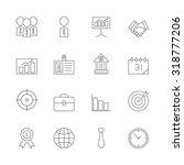 business icons set | Shutterstock .eps vector #318777206