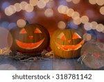 holidays  halloween and... | Shutterstock . vector #318781142