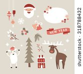 set of christmas and new year... | Shutterstock .eps vector #318788432