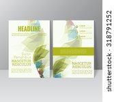 vector brochure template design ... | Shutterstock .eps vector #318791252