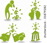 financial crisis icon set | Shutterstock .eps vector #31879282