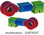 three step process key | Shutterstock .eps vector #31879297