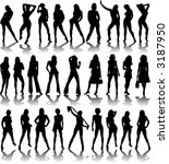 a collection of sexy ladies... | Shutterstock .eps vector #3187950