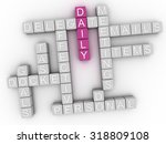 3d image daily word cloud... | Shutterstock . vector #318809108