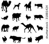 farm animals livestock and... | Shutterstock .eps vector #31881424