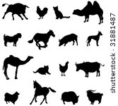 farm animals livestock and... | Shutterstock .eps vector #31881487