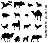 farm animals livestock and... | Shutterstock .eps vector #31881610