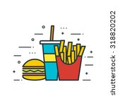 fast food flat vector... | Shutterstock .eps vector #318820202