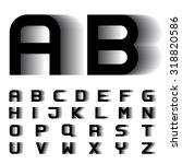 vector speed motion blur font... | Shutterstock .eps vector #318820586