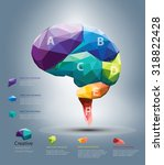 vector design brain polygon ... | Shutterstock .eps vector #318822428