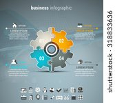 vector illustration of business ... | Shutterstock .eps vector #318833636