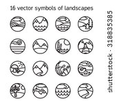 landscape icons collection. ... | Shutterstock .eps vector #318835385