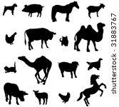 farm animals livestock and... | Shutterstock .eps vector #31883767