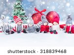 christmas background with red... | Shutterstock . vector #318839468