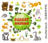 forest animal set | Shutterstock .eps vector #318845996