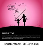 mother silhouette with her baby ... | Shutterstock .eps vector #318846158