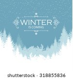 holiday winter landscape... | Shutterstock .eps vector #318855836