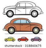 classic car  vector | Shutterstock .eps vector #318860675