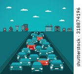 urban traffic vector concept in ...