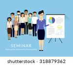 business seminar with managers... | Shutterstock . vector #318879362