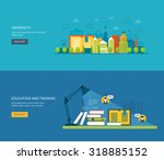 flat design modern illustration ... | Shutterstock . vector #318885152