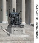 Small photo of columbia university with the statue of alma mater, established in 1860, new york city