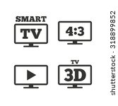 smart tv mode icon. aspect... | Shutterstock .eps vector #318899852
