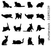 farm animal famous cats | Shutterstock .eps vector #31890139