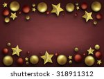 christmas ball with decoration... | Shutterstock . vector #318911312