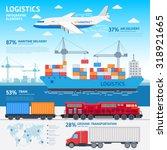 logistics and transportation... | Shutterstock .eps vector #318921665