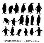 Penguins Silhouette Set