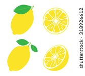 lemons on a white background. | Shutterstock .eps vector #318926612