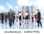people blurred in the city... | Shutterstock . vector #318927956