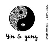 yin and yang decorative symbol. ... | Shutterstock .eps vector #318938822