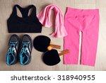 sport equipment for woman  on...   Shutterstock . vector #318940955