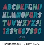 retro stripes funky fonts set... | Shutterstock .eps vector #318944672