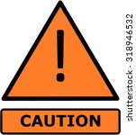 caution sign orange