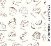 cheese set seamless pattern.... | Shutterstock .eps vector #318947828