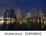 night scene of the cityscape... | Shutterstock . vector #318948602