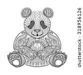 Hand Drawn Tribal Panda  Anima...