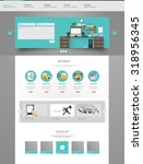 modern flat website template... | Shutterstock .eps vector #318956345
