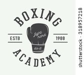 boxing and martial arts logo ... | Shutterstock .eps vector #318957218