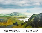 fantastic landscape with view... | Shutterstock . vector #318975932